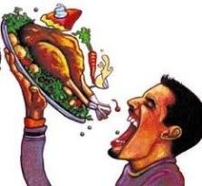 En ideal beslenme ; Yaşamak için yemek