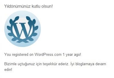 wordpress yıldonümü