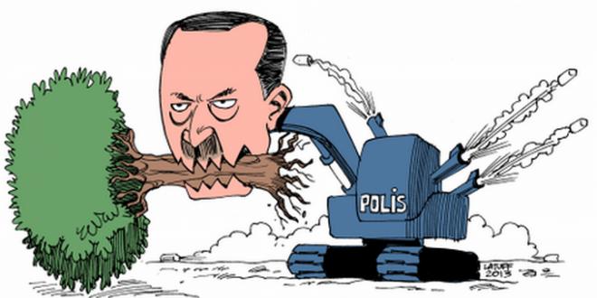 Siyasi-karikatürleriyle-tanınan-Brezilyalı-karikatürist-Carlos-Latuff-Gezi-Parkı-direnişini-çizdi.-660x330
